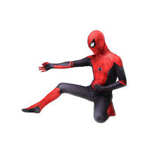 Spiderman Costume Far From Home Peter Parker Spider Man Suit Spider-man Costumes Adults Children Kids Spider-Man Cosplay Costume(China)