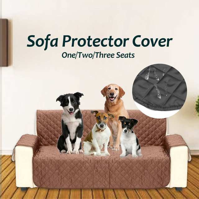 1 2 3 Seater Double Side Sofa Cushion Pets Dogs Covers Waterproof Couch Recliner Slipcovers Armchair Furniture Protector
