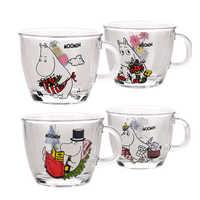Criativo adorável dos desenhos animados moomin mini cerveja tiro copo de café pequena capacidade vaso thule tazas para café verre doom de cristal