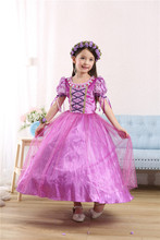 girl dress Rapunzel Princess Kids Party Dress Halloween Christmas gift  Tangled Cosplay Costume Girl Clothes Fantasia Vestidos abgmedr 2018 tangled dress girls princess dresses children clothing costume tangled rapunzel dress kids holiday party clothes