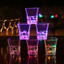 Induction Whisky Square Opening Cup Bar Luminous Glowing Water Beer Mug Wine Glass Crystal Vodka Coffee Gift Bottle Party
