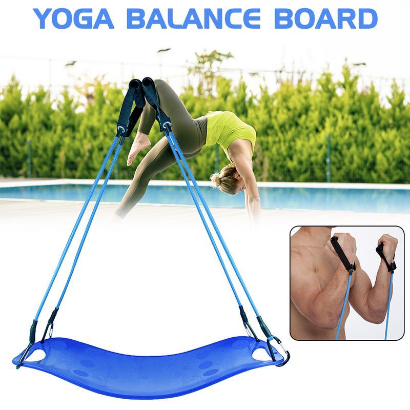 Planche de Yoga Fitness avec corde de traction planche d'équilibre tordant Fitness planche d'équilibre Simple entraînement de base pour les Muscles abdominaux et les jambes