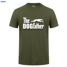 GILDAN  Shirt T Shirt Crew Neck Short Sleeve Compression The Dogfather Greyhound Dog Animal Pet Funny T Shirts new men shirt american staffordshire terrier amstaff the dogfather t shirt
