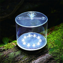 Solar light Cylindrical Inflatable Light 10Leds Waterproof Foldable Camping Lamp Outdoor Hiking fishing lighting Emergency