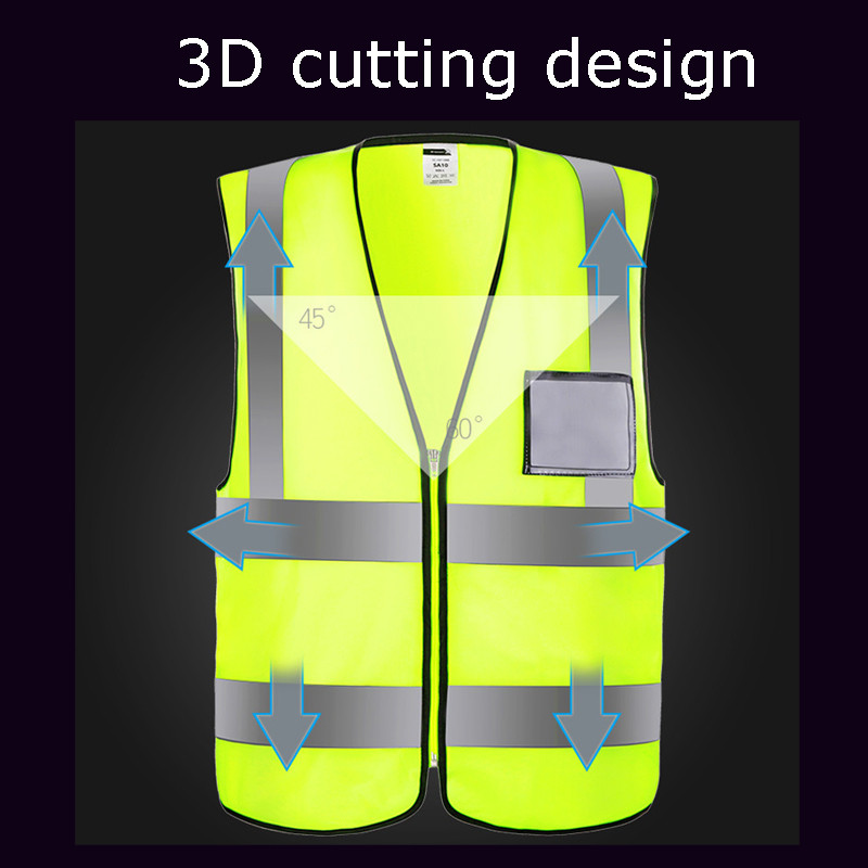 все цены на Safurance High Visibility Reflective Safety Vest Working Clothes Day Night Jacket Security Waistcoat For Running Cycling L/XL онлайн