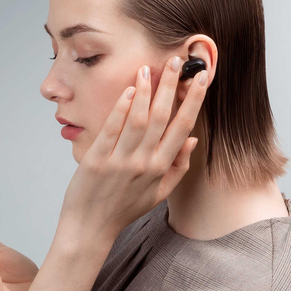 Xiaomi Redmi Airdots TWS Bluetooth 5.0 słuchawki Stereo bezprzewodowe aktywne redukcji szumów z mikrofonem zestaw głośnomówiący słuchawki douszne zwalczania ptasiej grypy