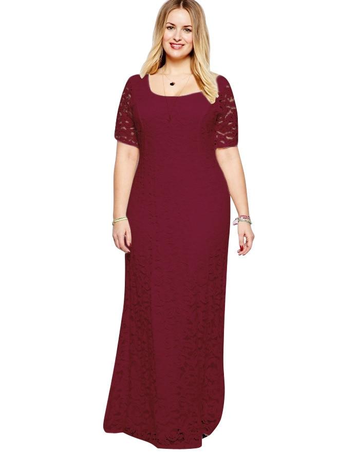 Плюс размеры женские платья для женщин белый полный кружево платье вечернее, элегантное, для вечеринок Формальные Макси платье соблазнител...