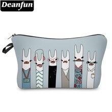 Deanfun Fashion Llamas Cosmetic Bag Waterproof Makeup