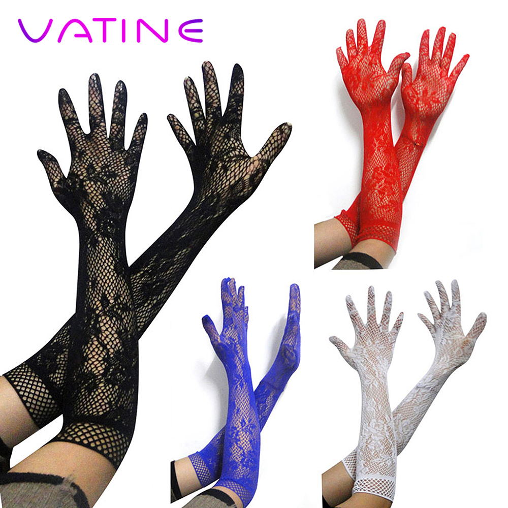 VATINE Long Elastic Sexy Arm Sleeve Lace Glove SM Bondage Sex Toys For Women Girl For Party Adult Games Erotic Toys