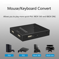 Portable High Speed plug and play Mouse Keyboard Converte For PS3 / PS4 / XBOX 360 / XBOX ONE no need download softwar