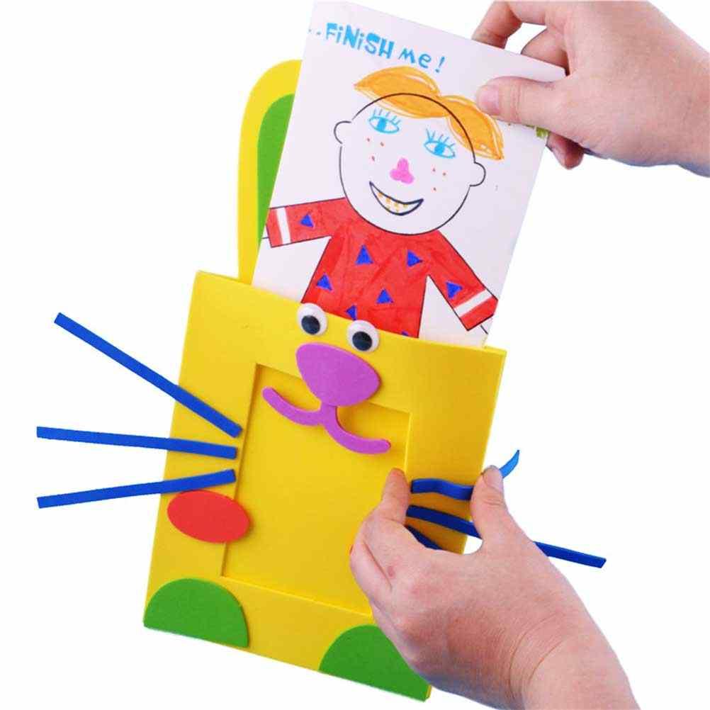 Мультяшная фоторамка материал ручной работы сумка для рукоделия принадлежности для детей (случайный цвет, случайный узор) 1 шт
