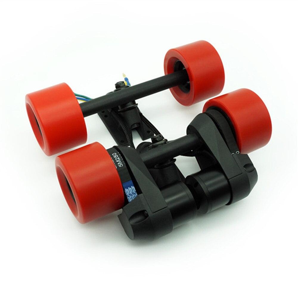 Rouge/noir double entraînement par courroie BLDC-5055 Kit de moteur sans brosse pour bricolage Commuting planche à roulettes électrique télécommande jouet accessoire nouveau