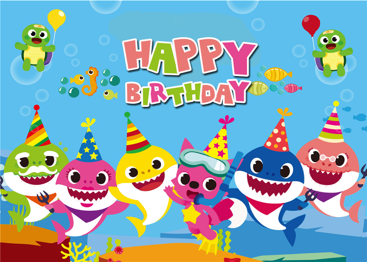 Baby Shark  Birthday Party Backdrop Blue Ocean Vinyl Photo Studio Props Banner Photography backdrops Photo StudioBaby Shark  Birthday Party Backdrop Blue Ocean Vinyl Photo Studio Props Banner Photography backdrops Photo Studio