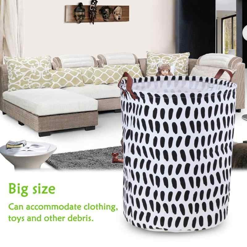 Tragbare Wäsche Korb Spielzeug Lagerung Box Super Große Tasche Leinwand Waschen Schmutzige Kleidung Großen Korb Organizer Bin Griff