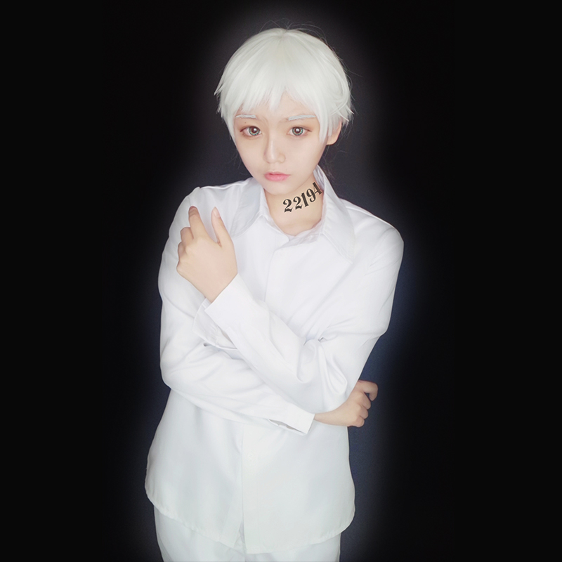 Milky Way Anime The Promised Neverland Cosplay Costume Emma Norman Cosplay Costume Accessories School Uniforms Cosplay Wig
