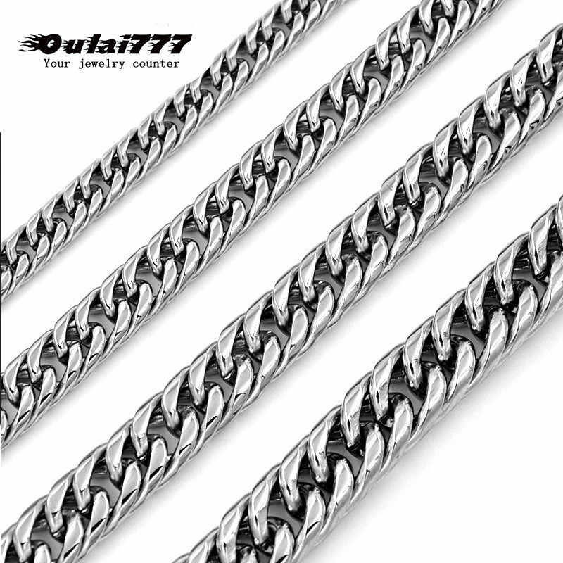 hip hop new stainless steel cuban link chain men necklace curb gifts mens man long gold necklaces women accessories chocker