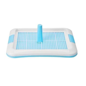 Pet Dog Toilet  Easy to Clean Lattice Dog Toilet  Potty Cat Dogs Litter Tray Urinal Bowl Pee Trainer w/Column Pet Product 1