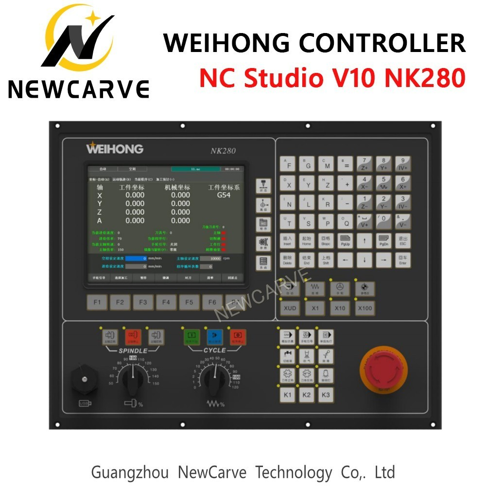 Купить с кэшбэком WEIHONG NC Studio NK260 NK280 Controller Software NC Studio V10 3 Axis ATC Spindle Integrated Control System Manual NEWCARVE
