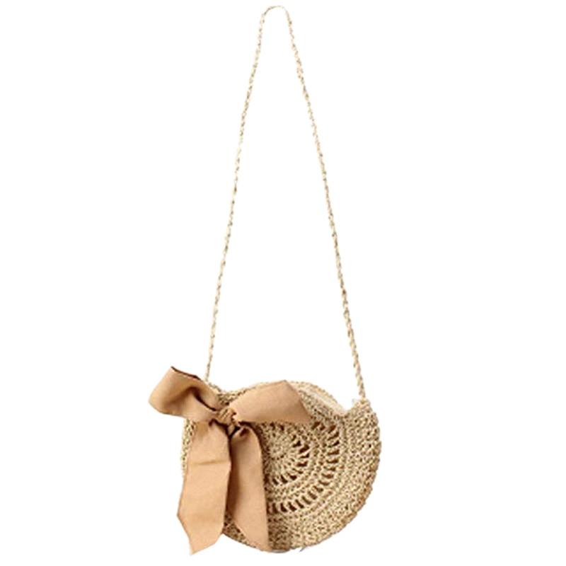 TFTP-Women Beach Bag Round Straw Crochet Shoulder Summer Bag PurseTFTP-Women Beach Bag Round Straw Crochet Shoulder Summer Bag Purse
