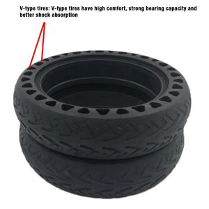Image 3 - Solid Tire Tubeless Drilled Scooter Replacement Tire For Xiaomi M365 Electric Scooter 8.5 Inches Solid Tire Electric Scooter