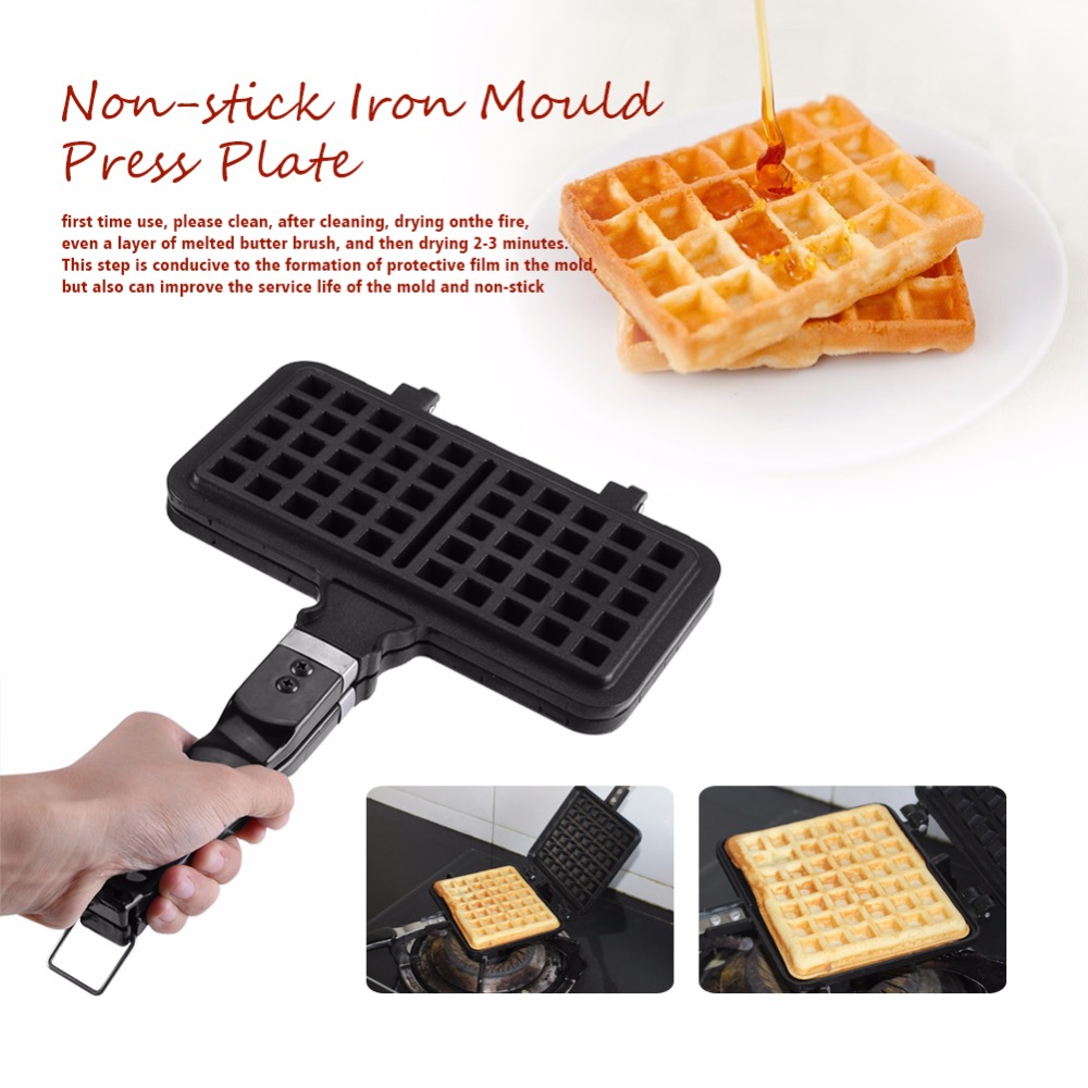 Maker-Press-Plate Waffle-Mold Kitchen-Supplies Making-Tool Non-Stick Rectangle Hot-Sale
