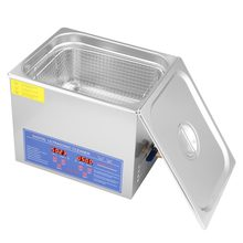 220V 10L Digital Stainless Ultra Sonic Cleaner Uitra Sonic Bath Cleaner Timer Pemanas untuk Auto Parts Koin Perhiasan Logam bagian(China)