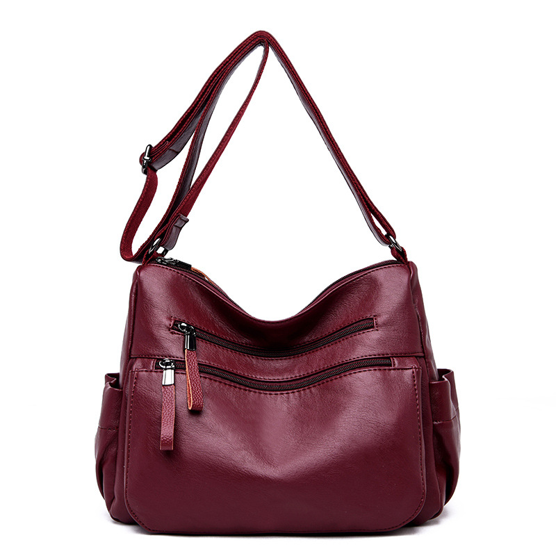 Big Soft Leather Hobos Female Handbags Shoulder Bags Ladies Design Bag