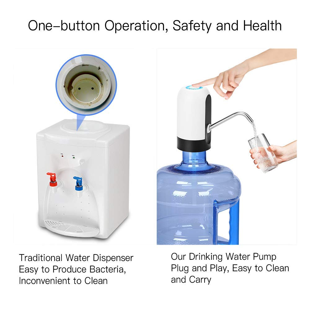 Water Bottle Pump Suction Auto Electric Portable Switch Portable USB Charging