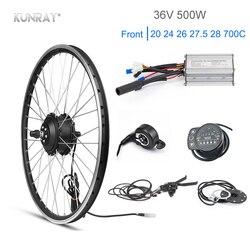 くん線 36 V 500 ワット電動自転車キット 20 26 27.5 インチフロントモーターホイールキット電動キットのための自転車 Wheelbow サイクリングセット Diy パーツ