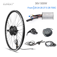 Kun ray 36V 500W Electric Bike Kit 20 26 27.5 inch Front Motor Wheel Kit Electric Kit For Bicycle Wheelbow Cycling Set DIY Part