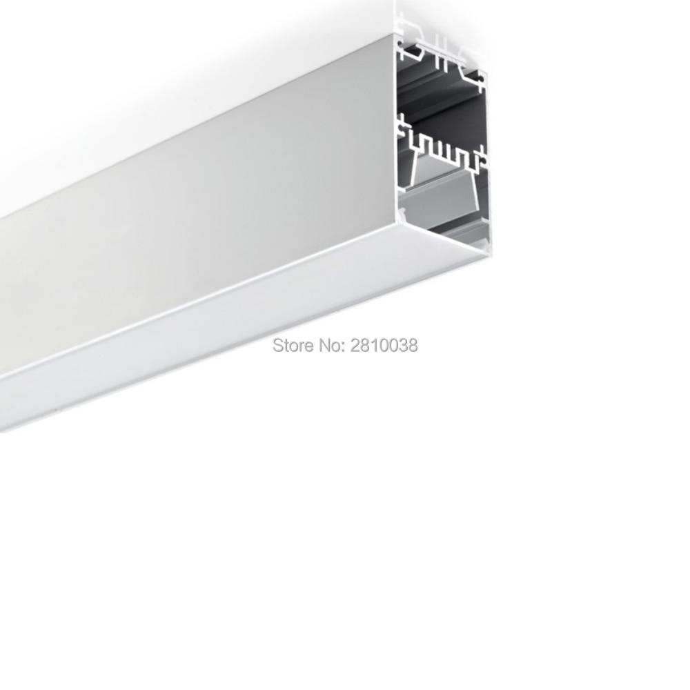 10x1 m conjuntos lote parede recesso perfil de aluminio para led stripes big tipo u canal