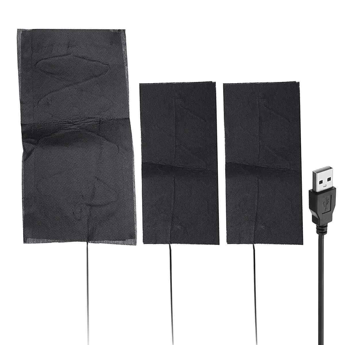 8 шт./компл. Электрический нагревательный коврик Электрический USB куртки одежда грелка водонепроницаемый нагреватель из углеродного волокна для зимнего подогреватель рук