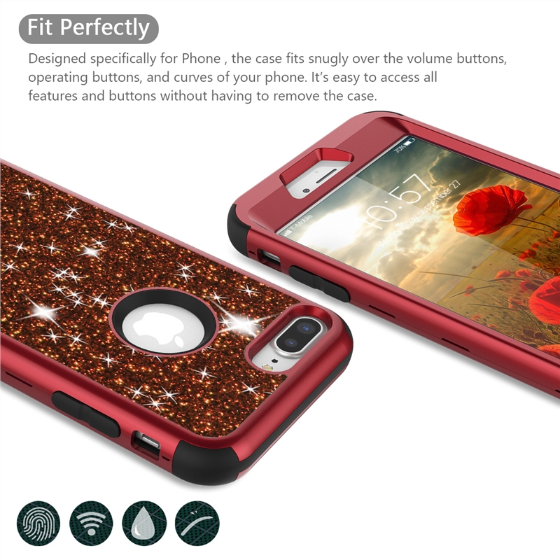 Luxury Hard Case For iPhone 8 7 6 6S Plus Case Glitter Bling Crystal PC Cover For iPhone 11 pro Max Case Silicone Cute Girls in Fitted Cases from Cellphones Telecommunications
