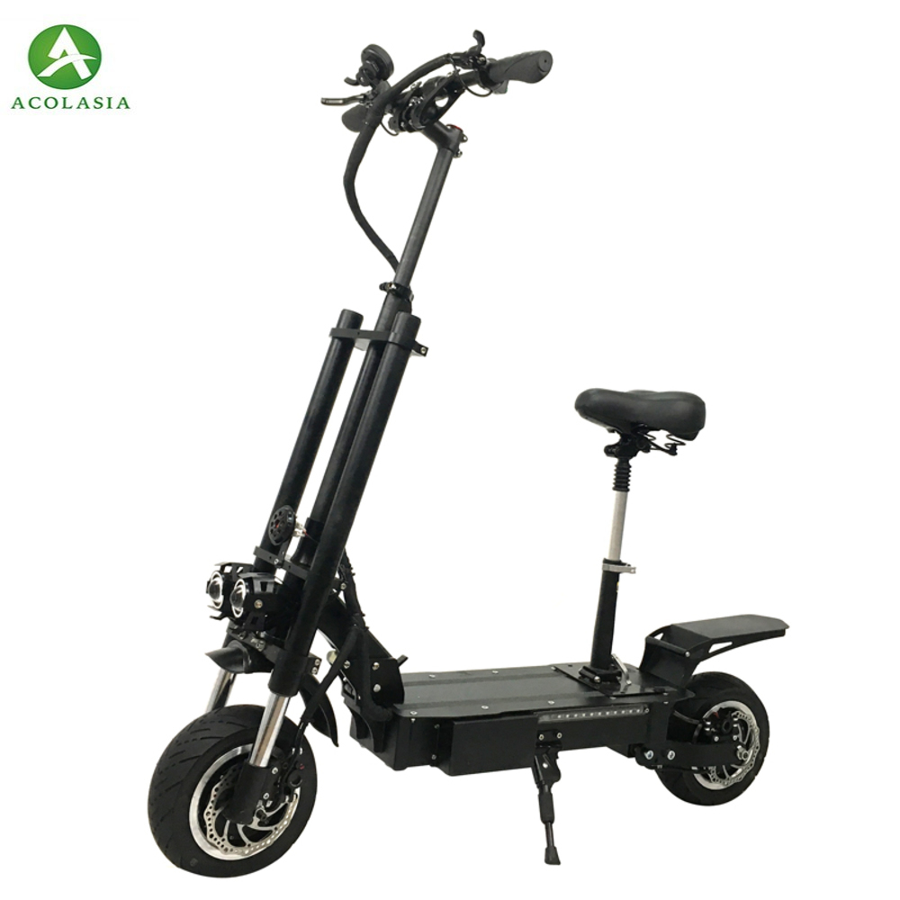 Scooter électrique Flj pour adultes avec moteurs de 3200 W Charge rapide et Scooter ville route adulte Scooter électrique