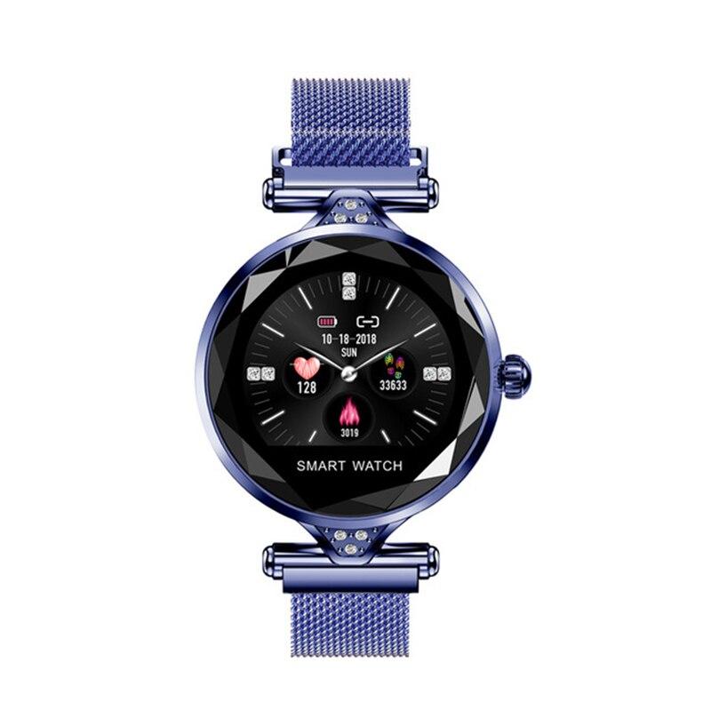 H1 femmes mode Smartwatch dispositif portable Bluetooth podomètre moniteur de fréquence cardiaque montre intelligente pour Android/Ios Bracelet intelligent