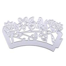 Heart Cake Flower Shape Metal Cutting Dies Stencil DIY Scrapbooking Album Paper Card Craft Embossing Folder Cards Making Silver(China)