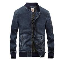 2019 Denim jacket men new fashion Autumn men jeans jacket brand overcoat bomber jacket masculina casaco masculino embroidered flower embroidered pu bomber jacket