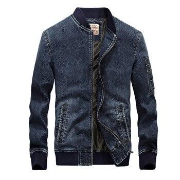 2019 Denim jacket men new fashion Autumn jeans brand overcoat bomber masculina casaco masculino embroidered