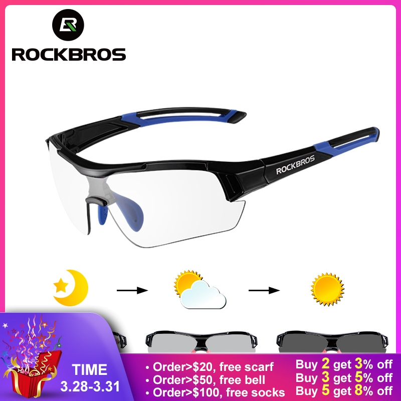 08dae99c2526a ROCKBROS Ciclismo Photochromic óculos de Sol Óculos De Bicicleta Eyewear  UV400 MTB Estrada Da Bicicleta Óculos