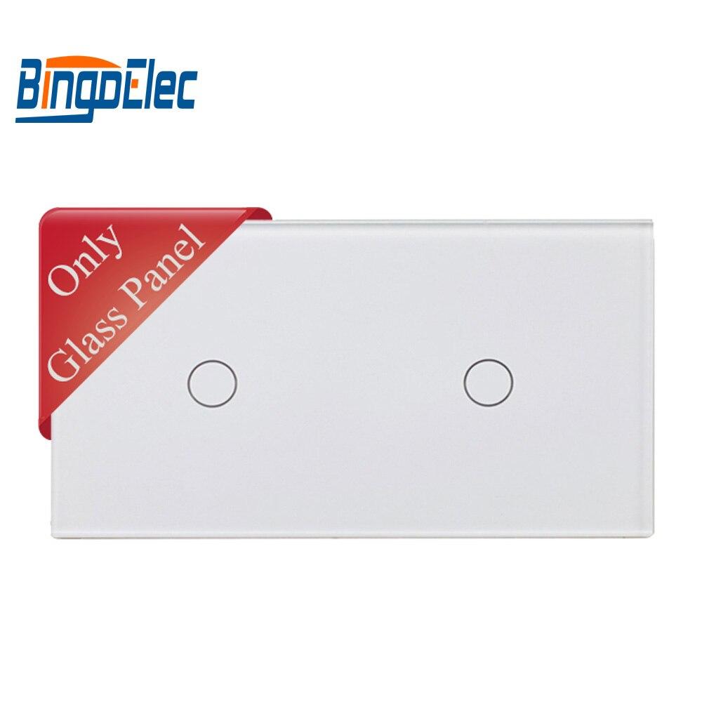 86*157mm la UE doble banda (1 + 1) interruptor panel puede coincidir con Interruptor táctil función parte