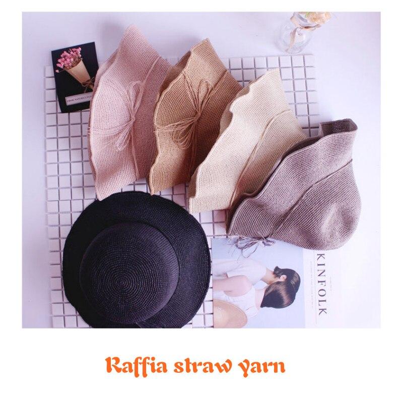 Image 4 - 2019 Hot Summer Hat Yarn Yarn for Knitting 500 G/lot Raffia Straw Yarn Crocheting Yarn for Handmade Hats Baskets HandcraftsYarn   -