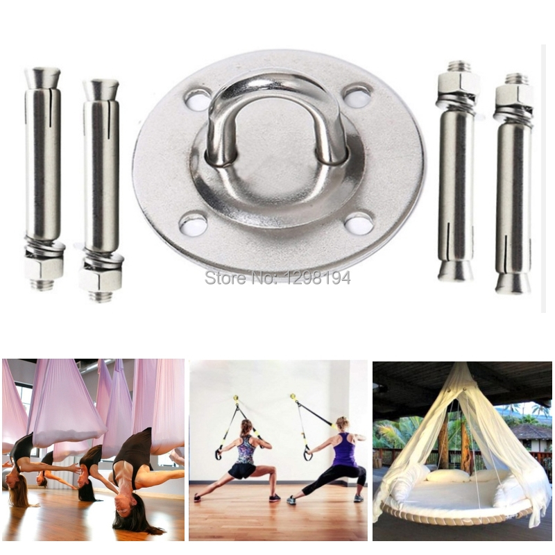 Yoga Swings Hammocks Body Weight Strength Training Systems Boxing Equipment OursGym Wall//Ceiling Mount for Suspension Straps Crossfit Olympic Rings