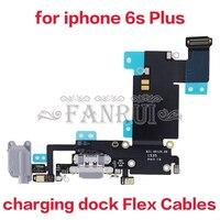 1 조각 usb 충전기 충전 포트 아이폰 6 s 플러스 도크 플렉스 케이블 헤드폰 잭 커넥터 어셈블리 충전 도크 플렉스 케이블