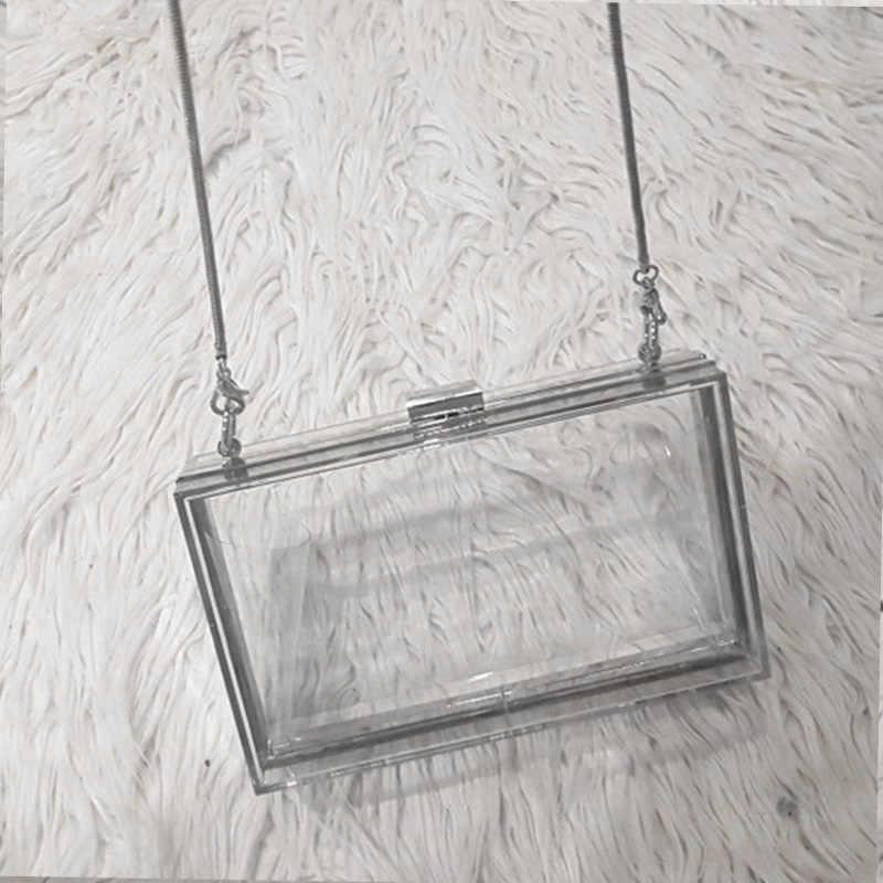 Акриловый прозрачный клатч на цепочке, женские сумки через плечо, жесткие ежедневные клатчи, сумки для свадебной вечеринки, вечерняя сумочка (серебро)