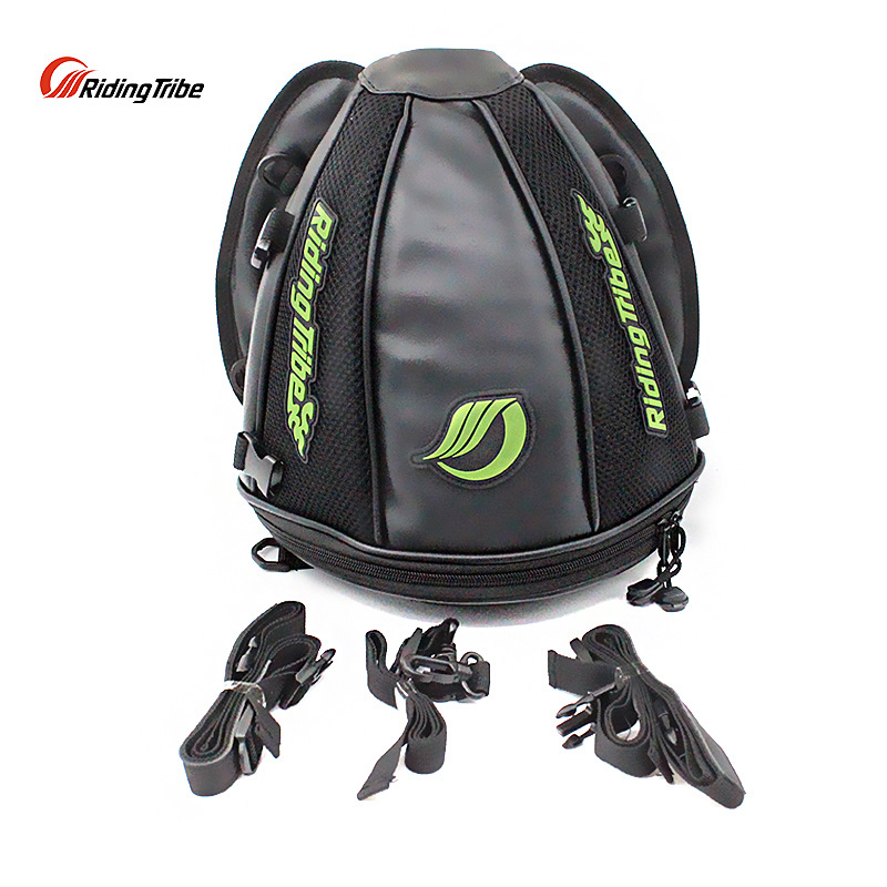 Riding Tribe Motorcycle Bag Synthetic Leather Moto Helmet Bag Saddle Bag Waterproof Riding Tank Bag Luggage Motorcycle Packpack