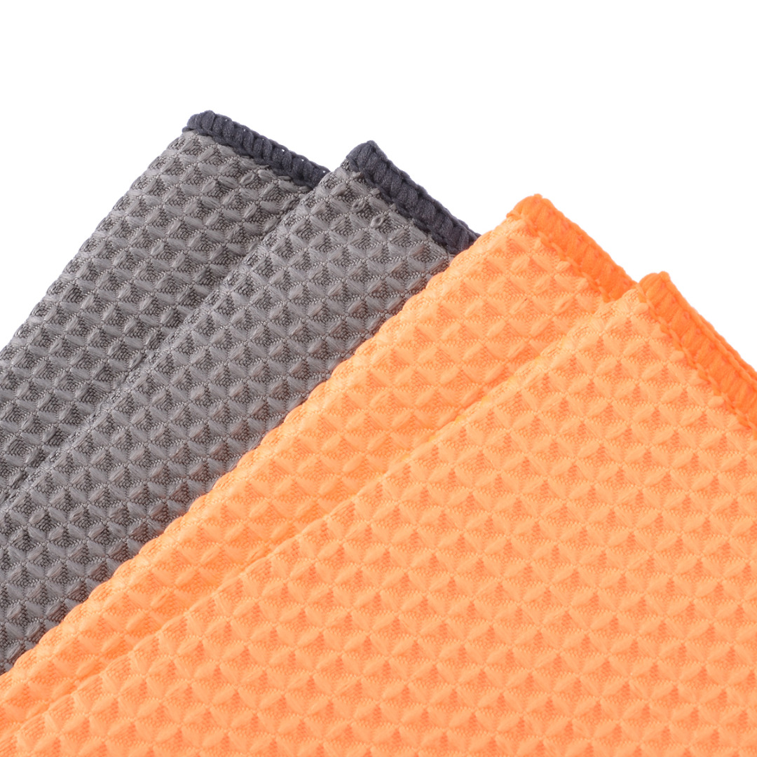 Image 5 - Microfiber Waffle Pattern Towel Soft Car Cleaning Wash Dry Polishing Detail Cloth For Car Home Kitchen Window-in Sponges, Cloths & Brushes from Automobiles & Motorcycles