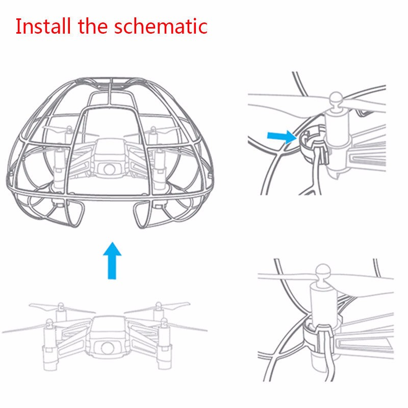 Image 5 - For Tello Drone New Spherical Protective Cage Cover Guard Light Full Protection Protector Guards Accessories.-in Drone Accessories Kits from Consumer Electronics