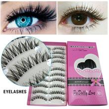 10 Pairs Eyelash Eye Tail Elongated Eye Lashes Natural Short Fake Eyelashes Handmade Thick Eyelash Makeup False Eyelashes exaggerated eye tail lengthening thick reusable false eyelashes