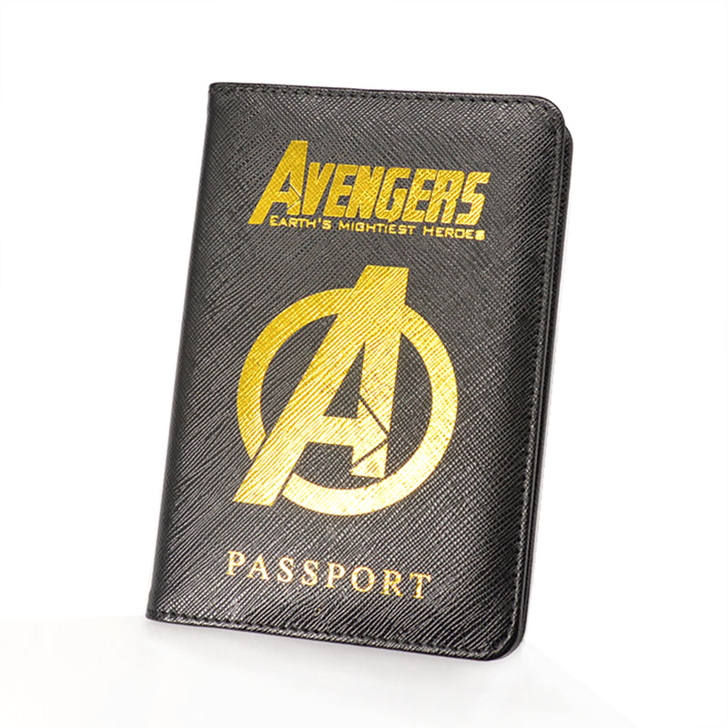 Marvel Avengers Passport Cover Rfid Blocking Leather Hydra Passport Holder Multifunctional Shield Travel Passport Case New