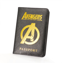 Marvel Avengers Passport Cover Rfid Blocking Leather Hydra Holder Multifunctional Shield Travel Case New